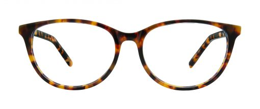 Antigo eyeglass frames in amber and tortoise color