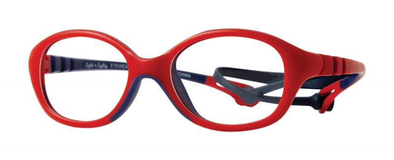 Lil Flex Navy red eyeglass frames
