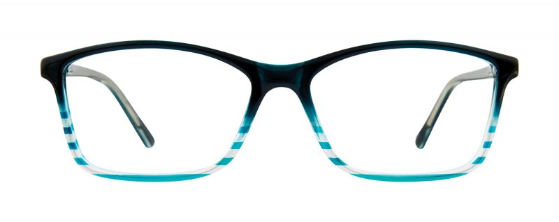 Terry teal Fade eyeglass frames