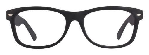 Drake black matte eyeglass frames
