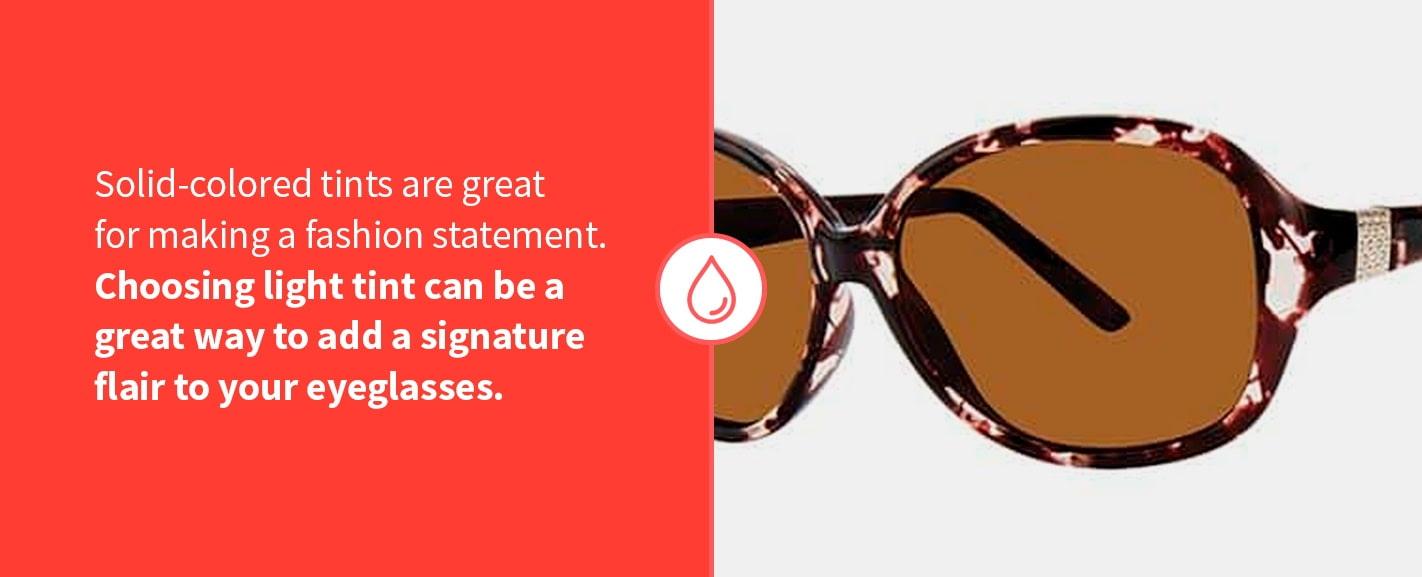 types of eyeglass tints