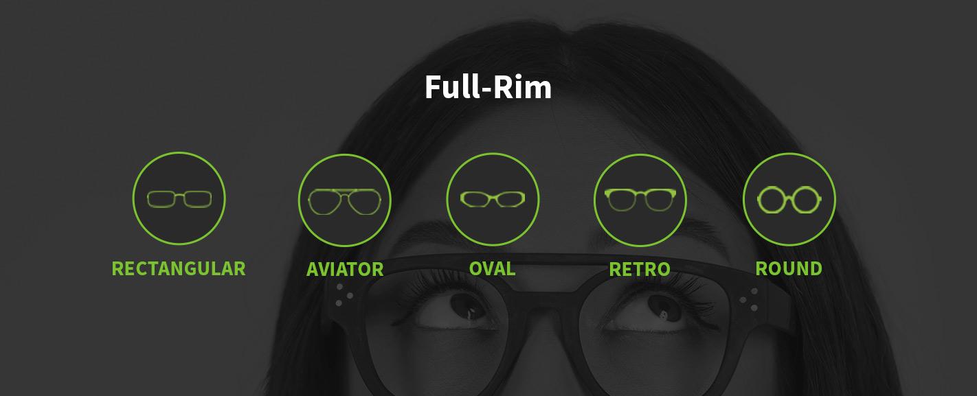 full-rim eyeglass types