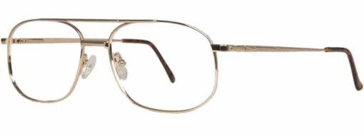 Banning gold eyeglass frames