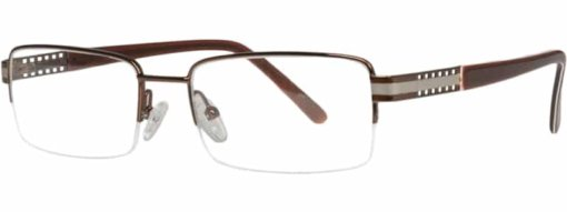 Boone brown gunmetal eyeglass frames