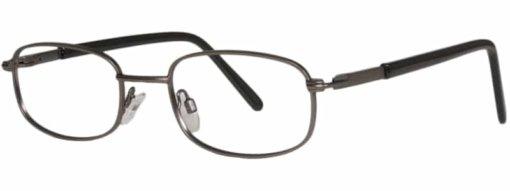 Brooklyn matte gunmetal eyeglass frames