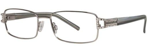 Brookside gunmetal grey eyeglass frames