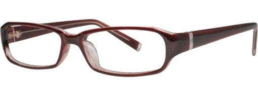 Austin burgundy & silver eyeglass frames