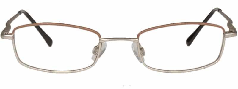 Beaverton brown & silver eyeglass frames