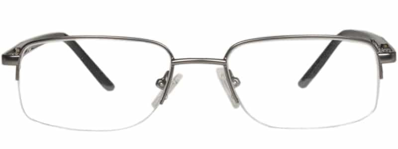 Benson matte gun metal eyeglass frames